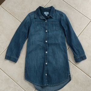Girl size small Old Navy 6/7 jean dress